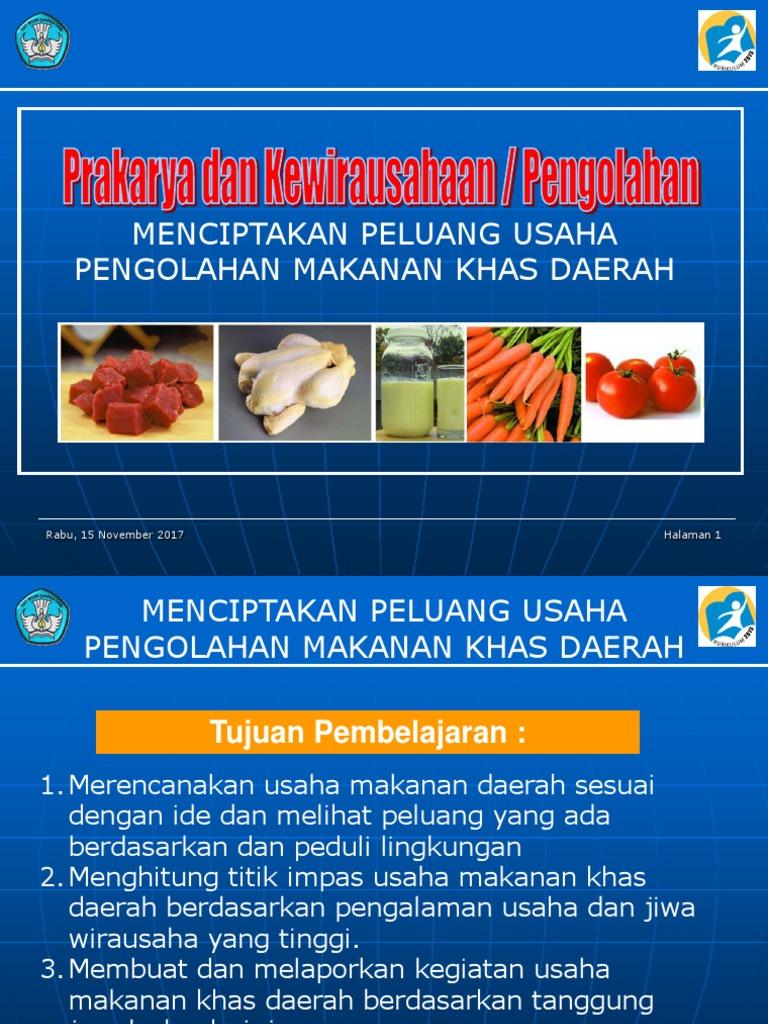 Pengolahan Wirausaha Makanan Daerah Ppt