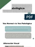 2. Voz Patológica. Clasificación Disfonías