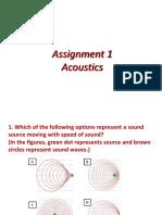 Quiz 1 - Acoustics