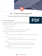 The Nature and Purpose of Financial Management - Notes