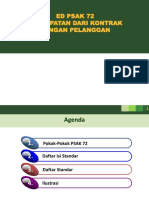 PSAK 72 Pendapatan Kontrak Pelanggan 25012017