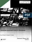 Concrete Pavements Trials in Zimbabwe, J.D. Parry...