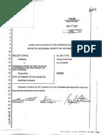 Order Denying Petition for a Writ of Mandate - Kelley Lynch Petitioner v. the La Superior Court (3)