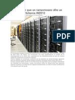 Cómo Evitar Que Un Ransomware Cifre Un Servidor de Ficheros W2012