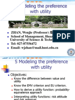 5 Modeling the Preference with Utility.ppt