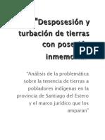 Desposesión y turbación de tierras con posesión- presentacion oral-.rtf