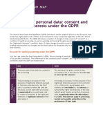 Processing of Personal Data Consent and Legitimate Interests Under the Gdpr