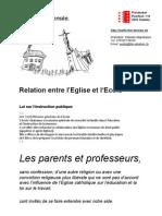 Flyer Eglise et Ecole