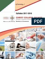BCom Syllabus 2017-18 By Christ College - Rajkot