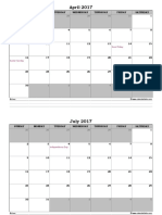 2017 Excel Monthly Calendar With Notes 01