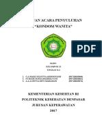 Satuan Acara Penyuluhan KONDOM WANITA FIX.doc