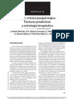 Dolor Cronico Postquirurgico Factores Predictivos y Estrategia Terapeutica