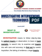 Investigative Interviewing Techniques