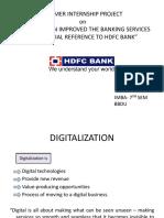 HDFC Bank Digital services ppt