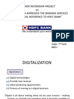 HDFC Bank Digital services ppt