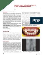 Management Incisor Maxillary Teeth
