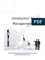 Sample on Introduction to Management