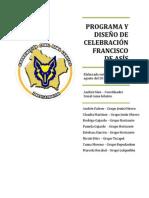 PROGRAMA Y DISEÑO DE CELEBRACIÓN FRANCISCO DE ASÍS