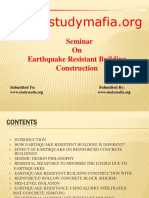 Civil Earthquake Resistent Building Construction Ppt