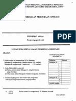 2010 PSPM Kedah PM w Ans
