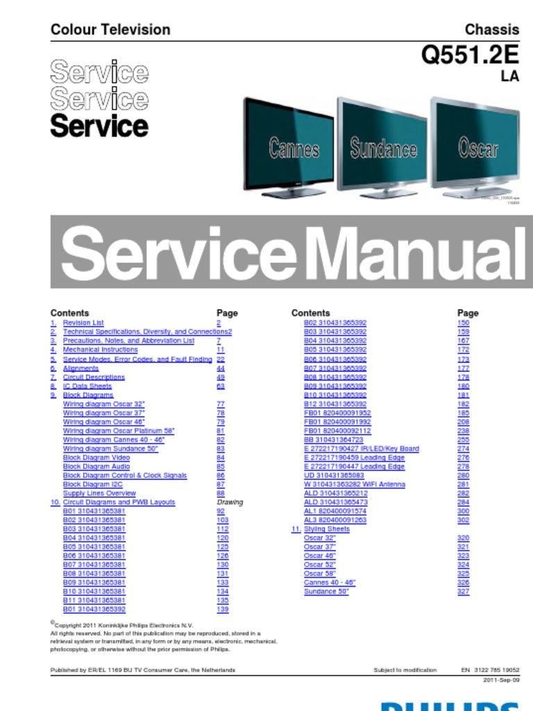 Philips ch Q551 2E LA  pdf | Hdmi | Televisión