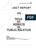 Project report in public relation