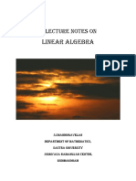 Linear Algebra Lecture Notes- Shanmugavelan