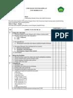 Checklist Keterampilan Usg