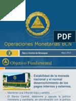 Operaciones Monetarias Banco Central de Nicaragua