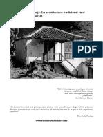 Arquitectura y Paisaje.la Arquitectura Tradicional en El Medio Rural de Canarias