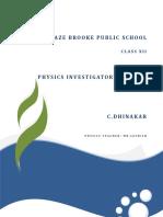 Physics Investigatory Project on LDR
