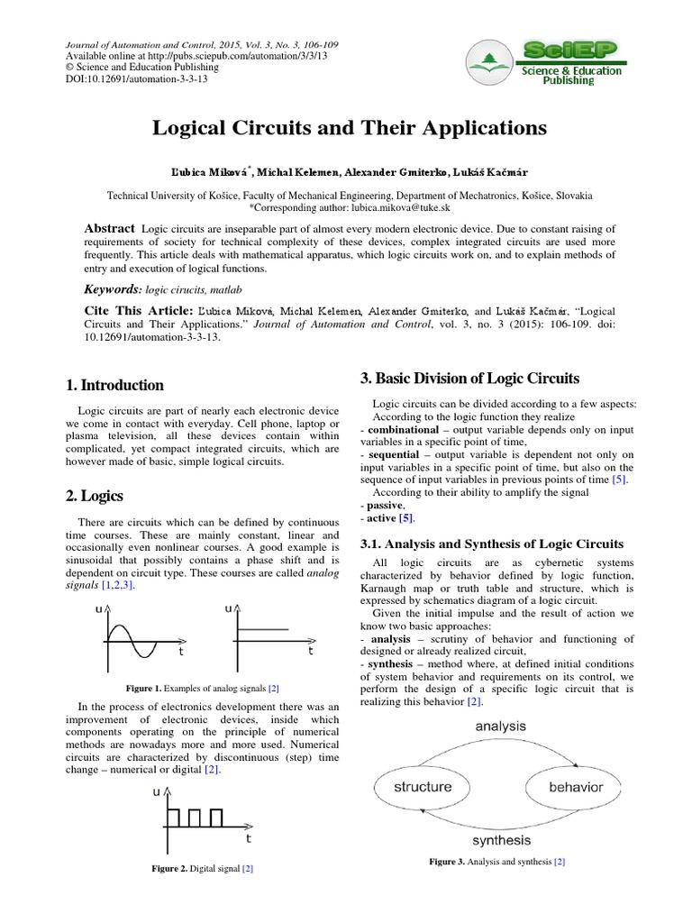 logical circuit and their application pdf electronic circuits rh es scribd com
