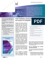 Port Terminal Development in Myanmar