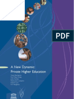 A New Dynamic- Private Higher Education 2009