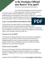 Documento de Posição Oficial (DPO)