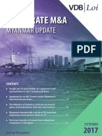 Corporate M&A Myanmar Update 2017