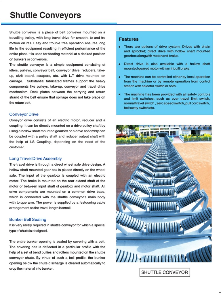 Shuttle Conveyors | Belt (Mechanical) | Axle