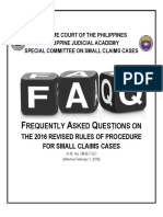 2016 Small Claims Frequently Asked Questions FAQs