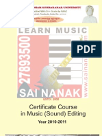 Certificate in Music Editing