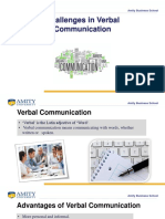 Challenges in Verbal Communication
