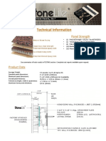 Stone Panels Technical Information