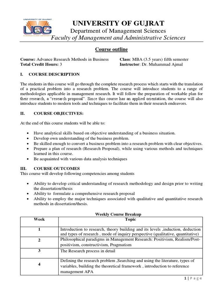 Advance Research Methods (MS) (2) | Hypothesis | Qualitative Research