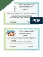 Diploma Del Dia de La Familia