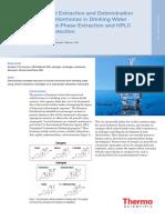 HPLC and SPE Hormones Water