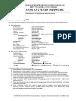 1. Formulir Permohonan Rekomendasi Ijin Praktik Apotek &   Klinik + Daftar Tilik Instrumen (Manual) JADI