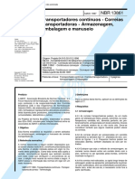 NBR 13861 - Transportadores Continuos - Correias Transportadoras - Armazenagem Embalagem e Manuse
