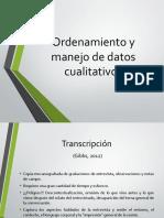 3. Nociones de Ordenamiento y Manejo de Datos Cualitativos