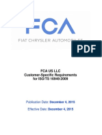 FCA US LLC Customer-Specific Requirements -December 4 2015 Release