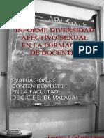 informe diversidad afectivo-sexual en la formación de docentes