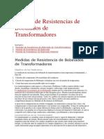 Medida de Resistencias de Bobinados de Transformadores